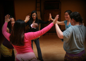 Dancing for Birth class - powerful mama circle